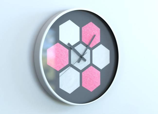 round clocks Hexagone