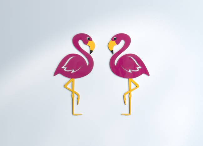 Wall decoration Flamants